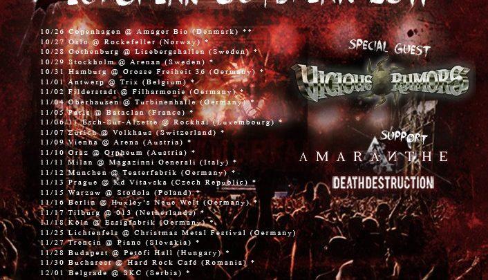 Hammerfall + Death Destruction + Amaranthe + Vicious Rumors @ Bataclan, Paris 05.11.2011
